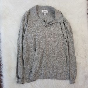 Alfani Men's Sm Long Sleeve Gray Sweater